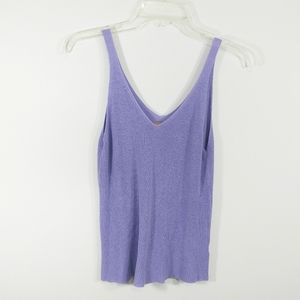 Emmer and Oat lilac sleeveless knit top si…